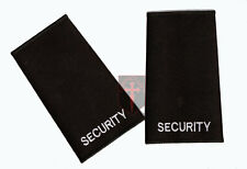 NEW PAIR OF GENUINE BLACK SECURITY  BADGE EPAULETTES