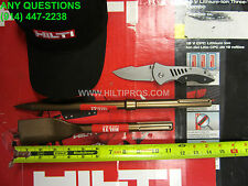 Hilti Sds Max Wide Flat Chisel & Pointed, Great Condition, Free Hat,Fast Ship
