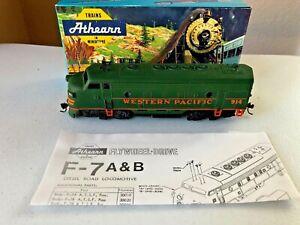 Athearn (blue box) HO F7A Diesel Locomotive - Western Pacific #914(custom paint)