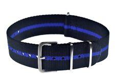 "Genuine 20mm ""Thin Blue Line"" Police Watch Strap manufactured by MWC of Zürich"