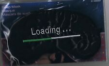 LOADING...  -  BLACK SATIN SLEEP MASK - NEW - GREAT FOR MIGRAINE SUFFERERS
