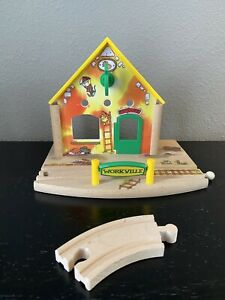 BRIO Richard Scarry Busy Town Train Station #32531 Fits Thomas Wooden Track