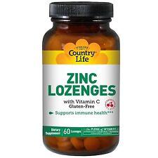 Zinco, 23 mg con vitamina C, 60 pastiglie gusto ciliegia-Country Life