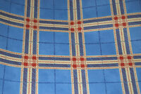 Blue Plaid with Red & Beige Accents Wallpaper Roll  W1107