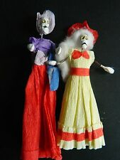 Day of the Dead Minature Spring Skeleton Ball Gown Ladies,Oaxaca,Mexico, 1988