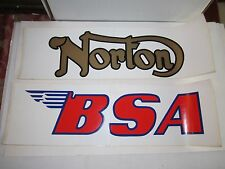 "ROYAL ENFIELD, BSA, TRIUMPH, NORTON, MATCH MOTORCYCLE STICKERS - 20"" X 6"" -BN-12"