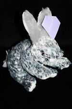 "Inter American Product EASTER BUNNY RABBIT Black White Plush Sitting 6"" Soft Toy"