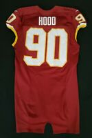 #90 Ziggy Hood of Redskins NFL Locker Room Game Issued Player Worn Jersey