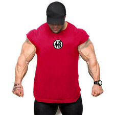 NEW Mens Muscle Fit Fitness Tee Workout Dragon Ball Gym T-Shirt Athletic Clothes