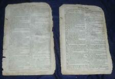 Four Pages from The Puritan Widow William Shakespeare 3rd Folio Rare 1664