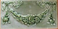 Antique art nouveau collectible vintage majolica border tile rare england c 1900