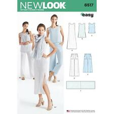 NEW LOOK SEWING PATTERN MISSES' Dress Tunic Top Pants  Scarf SIZE 10-22 6517