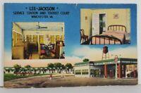VA Winchester Virginia Lee Jackson Srevice Station Tourist Court Postcard Q13