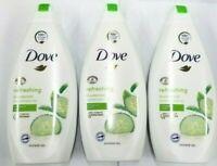 DOVE BODY WASH  CUCUMBER  & Green Tea Shower Gel 500ml PACK OF 3
