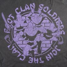 Ninja Turtles TMNT Foot Clan Soldiers Black T-Shirt Join the Foot Clan Size Med