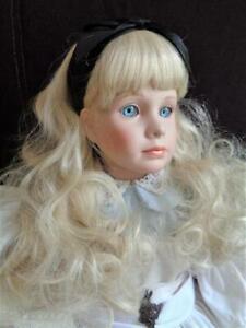 "1994 Thelma Resch ALICE IN WONDERLAND 29"" Porcelain Doll w/Tag WORLD GALLERY"