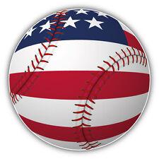 Baseball USA Flag Car Bumper Sticker Decal 5'' x 5''