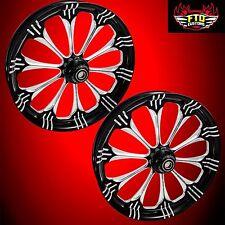 "Hayabusa, GSXR, ZX14 Custom 360mm Wheels,""Warlock"" wheel set"