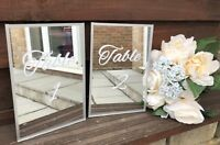 Mirror Acrylic A5 Wedding Table Names Numbers Bespoke Any wording or Design