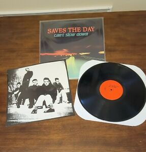 Rare Vintage 1998 Saves The Day, Can't Slow Down Vinyl Record, Excellent/VG+