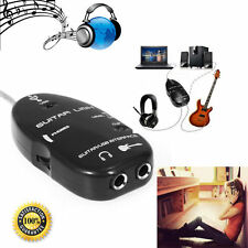 Usable Jack to USB Guitar Link Cable Adapter Guitar to PC MAC Recording Playback