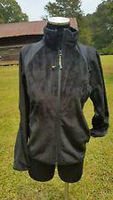 NWT Peter Millar performance black fleece zip front jacket S