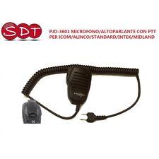 PJD-3601 MICROFONO/ALTOPARLANTE CON PTT PER ICOM/ALINCO/STANDARD/INTEK/MIDLAND