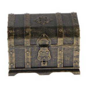 Antique Children Treasure Chest Box for Gems/Diamonds Toys Container C
