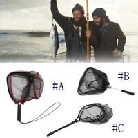 Portable Fishing Net Aluminum Alloy Fly Fishing Landing Net  Large Mesh Hand Dip