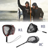 Portable Fishing Net Aluminum Alloy Fly Fishing Landing Net  Large Mesh Hand Dip