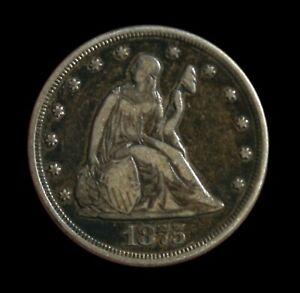 1875-CC 20 Cent Piece XF Details Original Patina Rare this Nice!!!