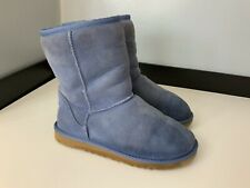 Ugg Boots Short Classic Suede Leather Sheepskin  Lined  Size Eu 35 Uk 4  Vgc