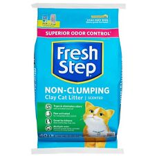 Fresh Step Non-Clumping Premium Cat Litter with Febreze Freshness,Scented 40 lb