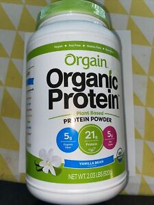 Orgain Organic Protein Plant Based Powder Vanilla Bean 2.03 lbs