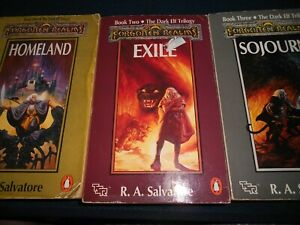 3 x Forgotten Realms - THE DARK ELF Trilogy by R.A. Salvatore -complete