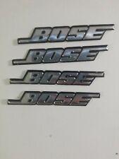 4 Pcs Bose Self Adhesive Chrome Emblem Logo Decal Badge USA SELLER