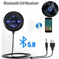 Car Bluetooth Receiver to 3.5mm Aux Adapter Car Audio Dongle with FM transmitter