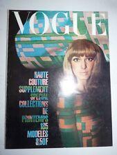 Magazine VOGUE PARIS mode French supplément du N° de mars 1965