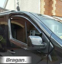 To Fit  02-14  Vauxhall Opel Vivaro Tinted Window Wind Rain Deflector -Adhesive