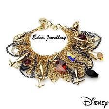 SALE Disney Couture TINKERBELL Pixie Tool Pickaxe Skull Apple Charm Bracelet