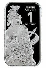 Statue of Freedom 1 Troy oz. .999 Fine Prooflike Silver Bar SKU44138