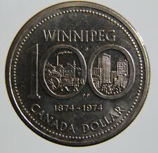 1974 Canada 1 dollar coin Winnipeg centennial