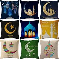 Ramadan Decor Cushion Cover Islam Gold Moon Star Mubarak Pillow Case