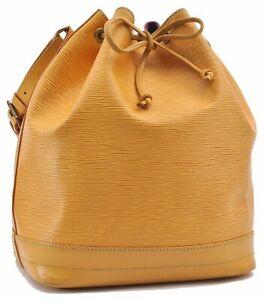 Authentic Louis Vuitton Epi Noe Shoulder Bag Yellow M44009 LV D3290