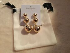 'golden girl' new w/tag & bag Genuine Kate Spade gold bauble drop Earring