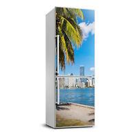 Magnet Sticker Refrigerator removable Peel & Stick Decal Architecture Miami