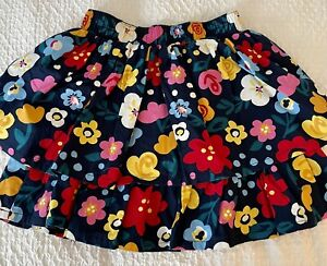 Hanna Andersson Girl's Floral Ruffle Skirt: Size 6-7 (120 cm) NWT