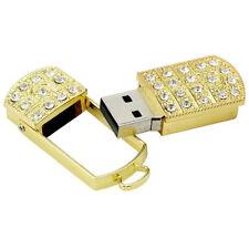 64GB USB 2.0 Pen Drive Flash Drive Memory Stick Key USB / Bling Gold Pendant