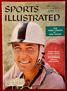 Sports Illustrated March 25, 1957 Carroll Shelby Seabring Classic Ben Hogan