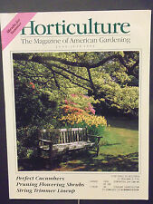 Horticulture Magazine perfect cucumbers pruning shrubs trimmer June July 1994